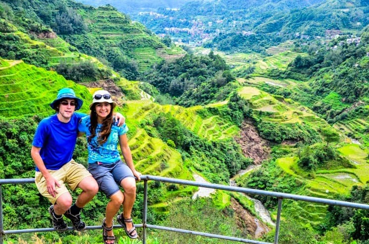 Viewing platform in Banaue, Luzon, The Philippines