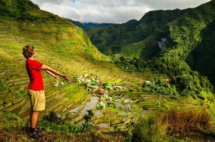 Rice terraces and Batad village. Luzon, the Philippines