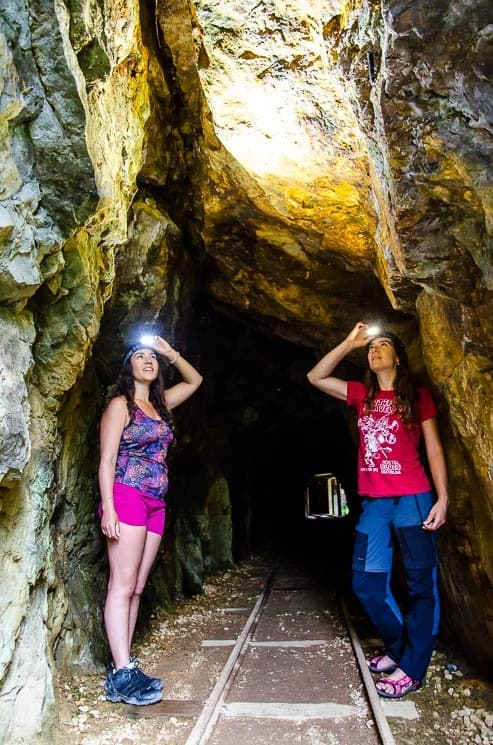 Don't forget a torch or headlight for exploring Karangahake tunnels. Coromandel, New Zealand.