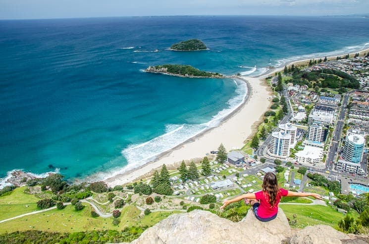 View from the top of the Mt. Maunganui. New Zealand