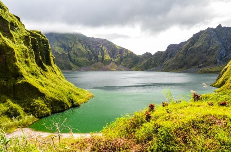 Crater Lake at Mt. Pinatubo - Luzon in the Philippines