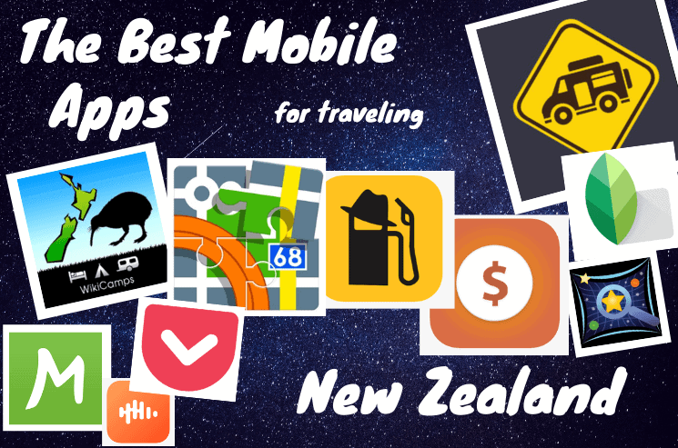 Best New Zealand Travel Apps which save your time and money. The best apps for camping, gas, money, photo editing, podcasts, surfing, maps,...