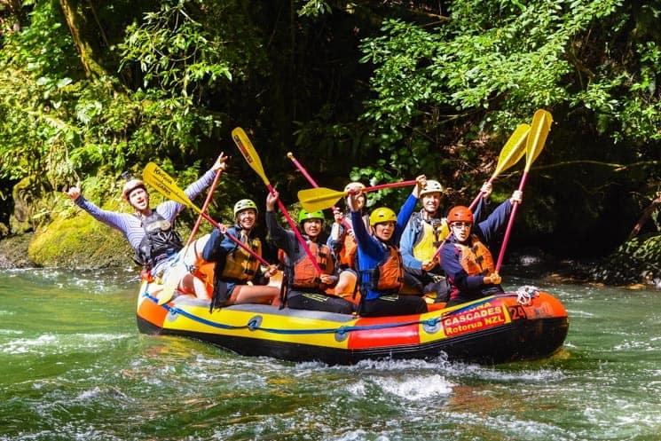 Rafting na řece Kaituna, Nový Zéland