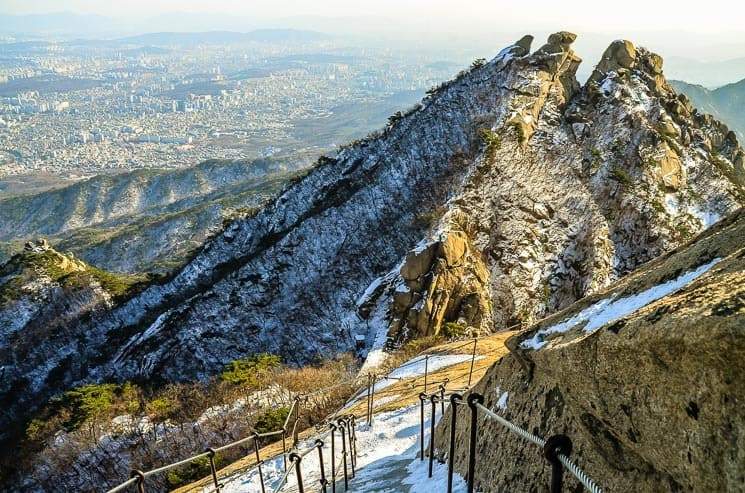 Winter scenery is amazing, Bukhansan National Park, Seoul, South Korea
