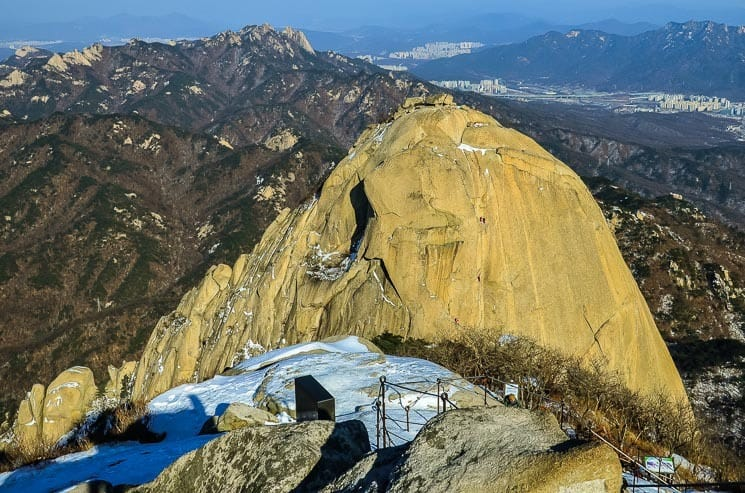 View from the highest peak - Baegundae, Bukhansan National Park, Seoul, South Korea