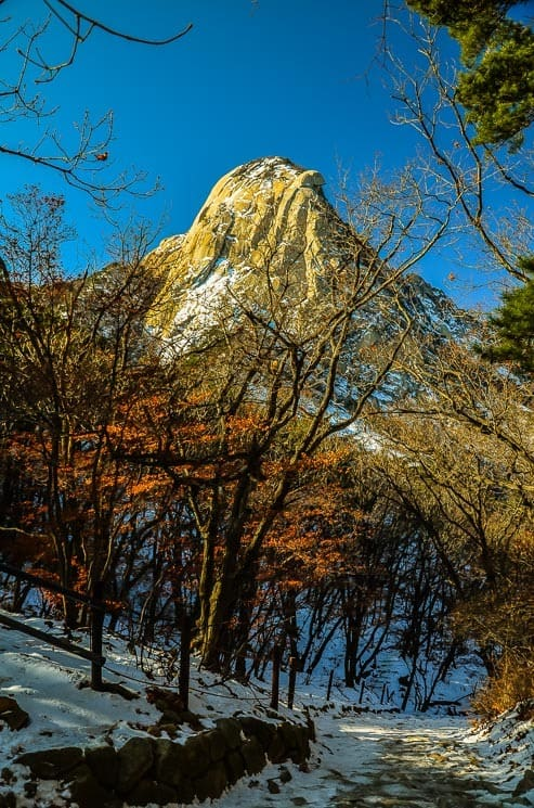 View of the Bukhansan mountain from the trail, Bukhansan National Park, Seoul, South Korea