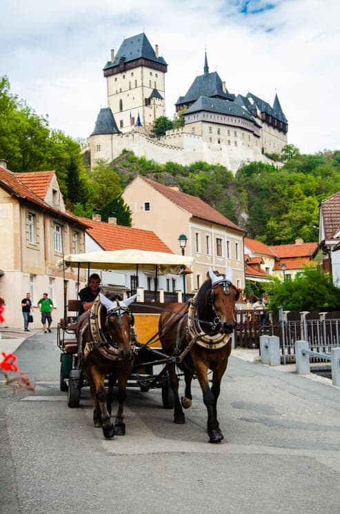 You can even have a ride to the castle in the horse carriage. Czech Republic