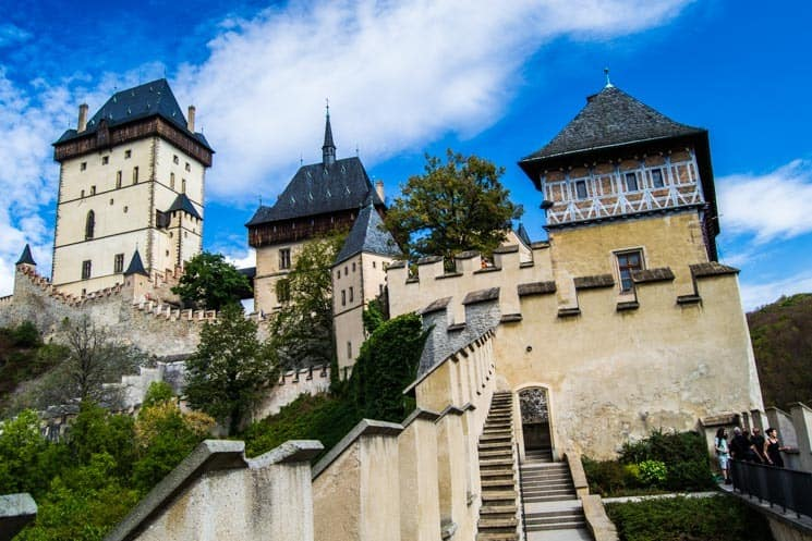 Awesome places to visit in the Czech Republic -Karlštejn Castle