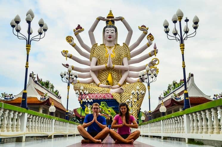18-handed Goddess of compassion, Wat Plai Laem, Best Things to do in Koh Samui Thailnad