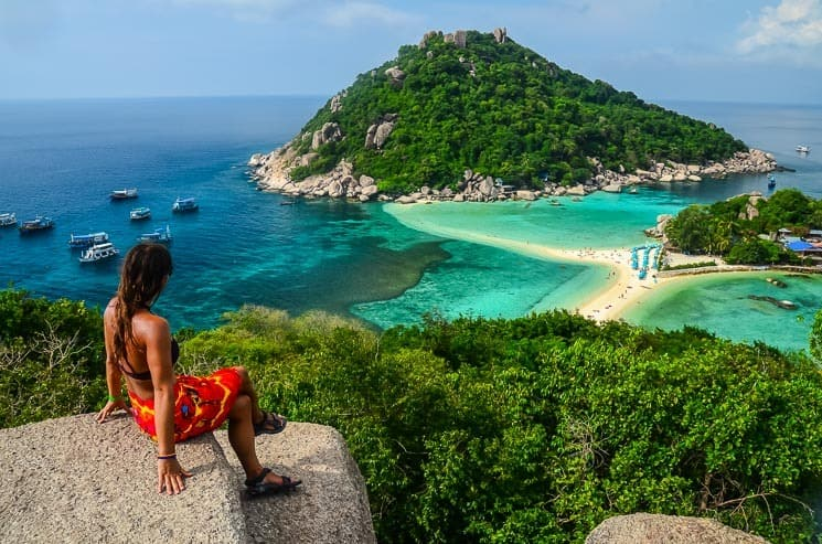 The beautiful island of Koh Nang Yuan by Koh Tao