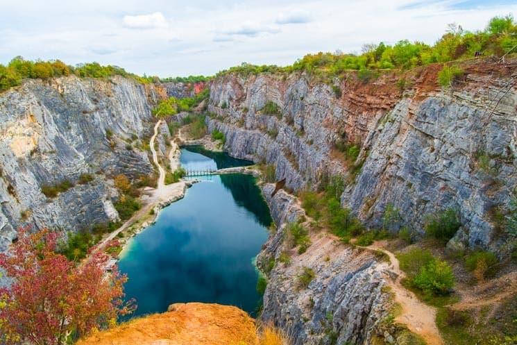 The Western View of the Velká Amerika - Great America Quarry. Czech Republic.