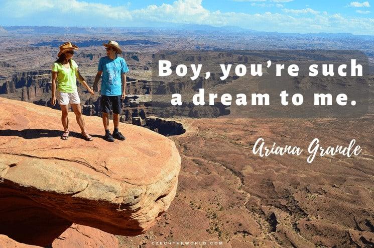 Boy, you're such a dream to me. Ariana Grande, Instagram Captions Lyrics