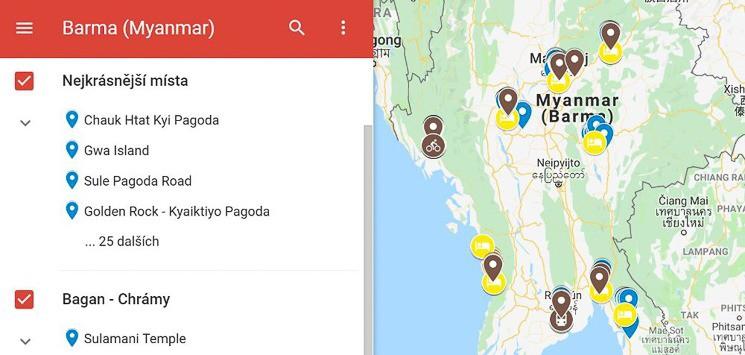 Mapa Barma Myanmar