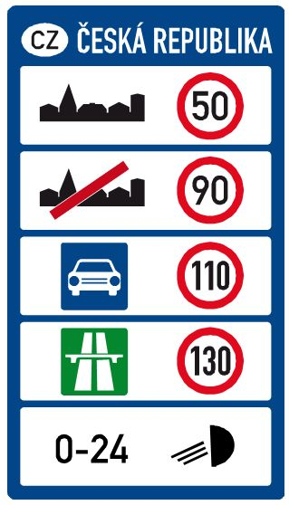 Car Rental driving rules in Czech Republic