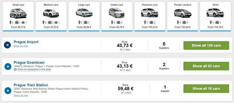 Car Rental Czech Republic
