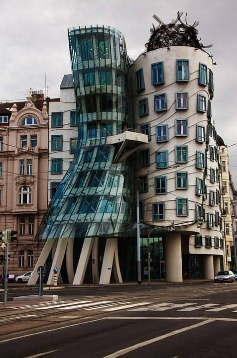Dancing House (Tančící dům) in Prague - Unique work of architects Gerhy and Milunič