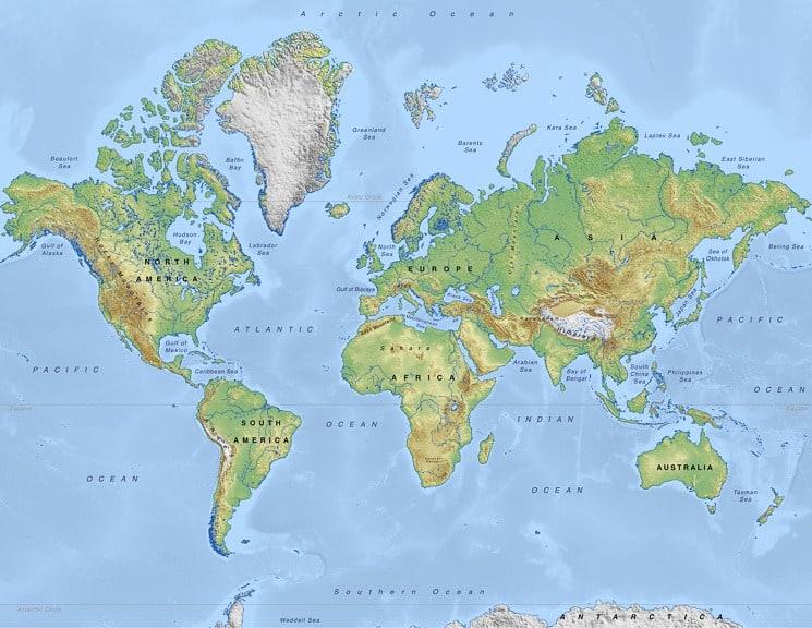 Fyzická mapa světa