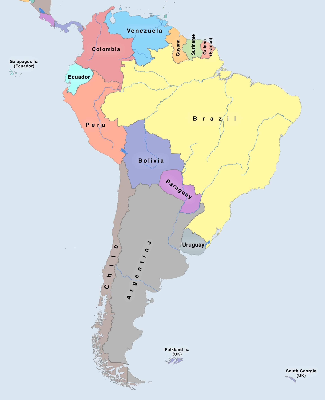 Mapa Světa A Všechny Státy