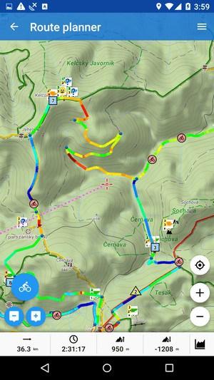 Locus Map - turistická mapa do mobilu