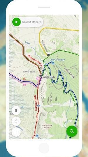 Mapy.cz - turistická mapa do mobilu