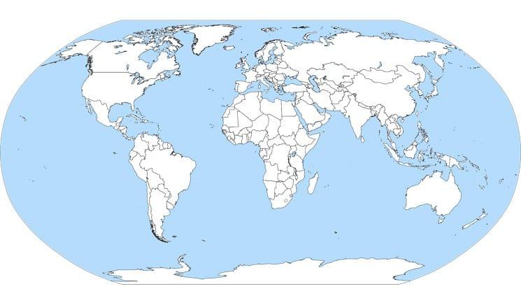 Slepá mapa světa