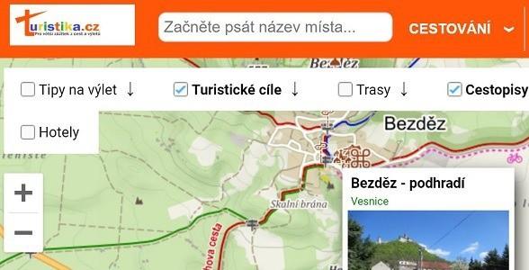 turistika.cz - turistická mapa