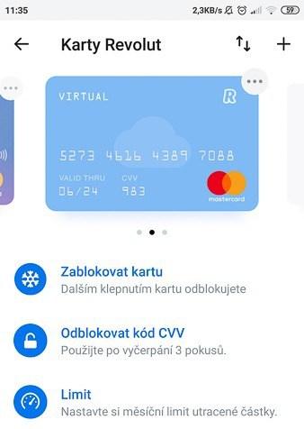 Virtuální revolut karta