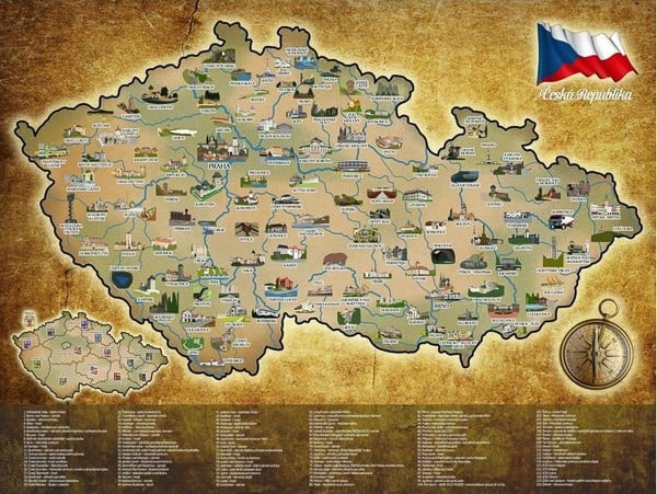 Stírací mapa ČR - alum