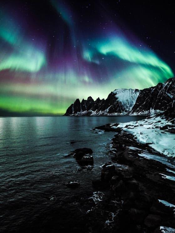 Nejčastěji uvidíte polární záři zelenou, pokud budete mít štěstí, dočkáte se i dalších barev.