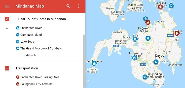 Best Tourist Spots in Mindanao Map