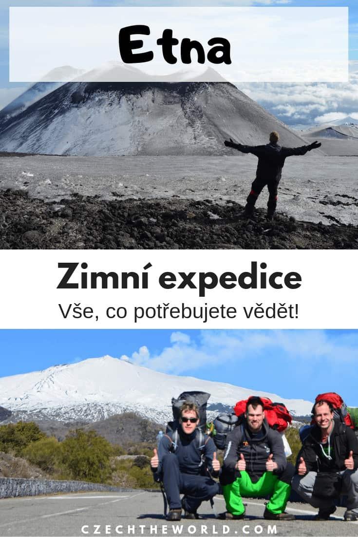 Etna v zimě - rady a tipy na výstup - vše co potřebujete vědět