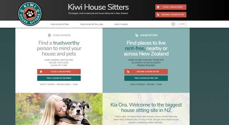 Stránky Kiwi House Sitters jsou jedničkou pro house sitting na Novém Zélandu.