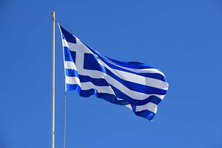 Řecká vlajka - modrá připomíná moře, bílá svobodu a nezávislost. Kréta