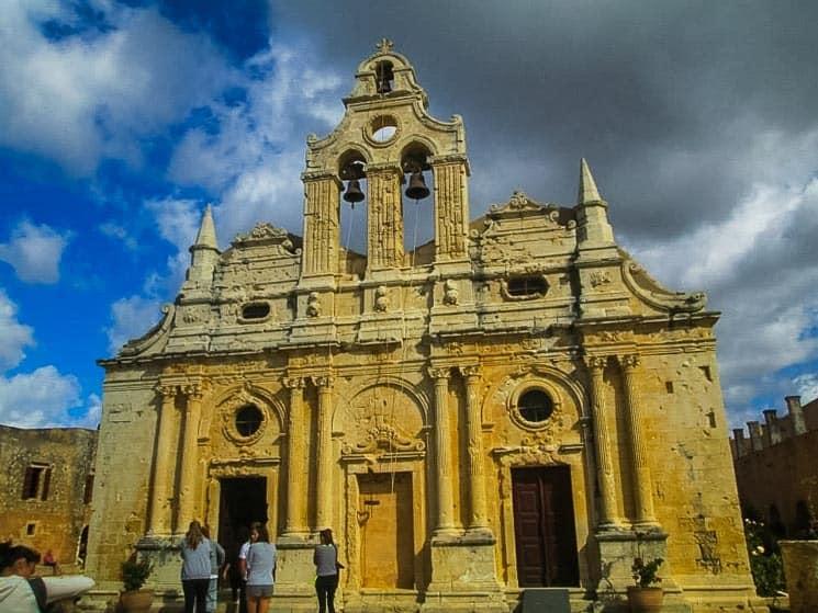 Historický klášter Arkadi. Kréta, Řecko