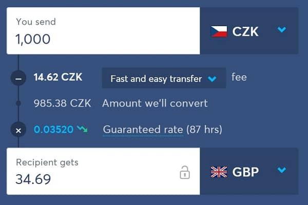 Na převod se používá výhodný středový kurz. Recenze TransferWise