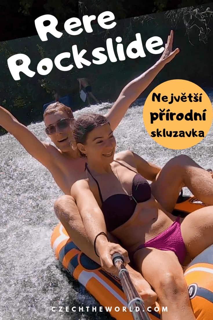 Rere Rockslide - největší přírodní skluzavka na Novém Zélandu