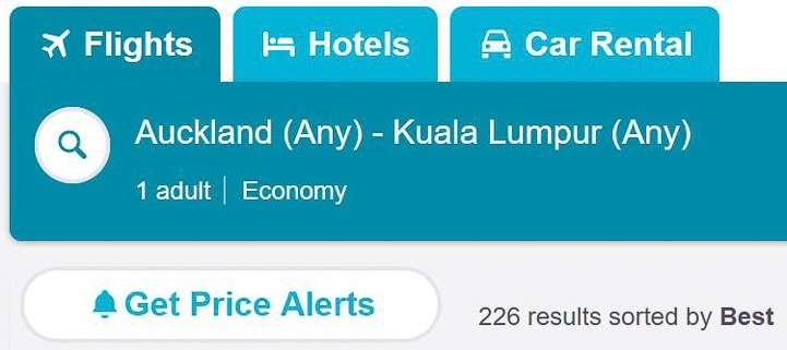 Skyscanner - flights price alerts