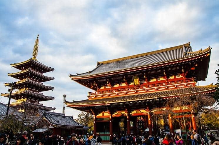 Tokio Sensoji Temple Asakusa