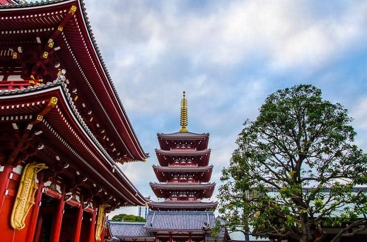 Tokio chrám Sensoji Asakusa