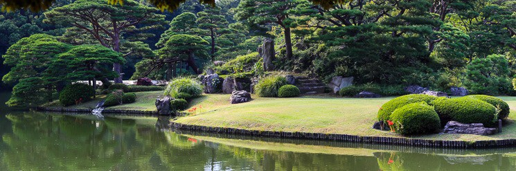 Tradiční zahrady Rikugien, Tokio