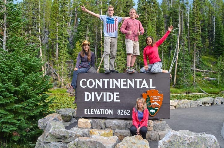 Yellowstone: Cedulce Continental Divide.