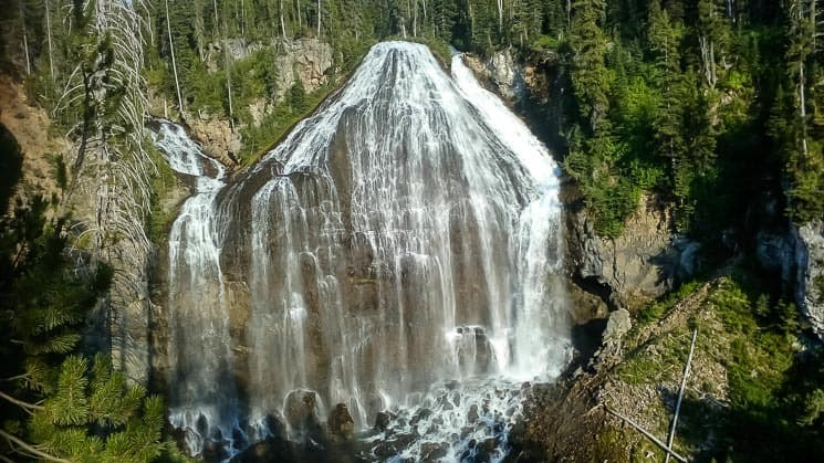 Union Falls, nice hike with a trailhead by the Grassy Lake Reservoir.
