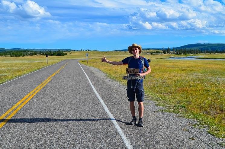 Stopování po Yellowstonu je snadné.