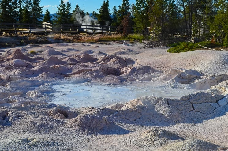 Mudpots simply have to be on your list of things to see in Yellowstone National Park. They're so active.
