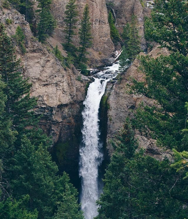 Tower Fall. Best things to see in Yellowstone National Park.