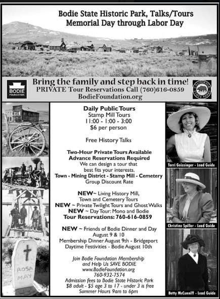 Bodie Ghost Town Tours