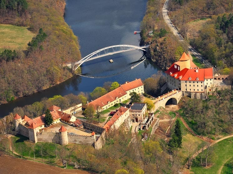 Aerial photo of Veveří Castle, Things to do in Brno