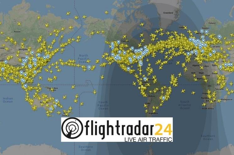Flightradar24.com sledování letů online