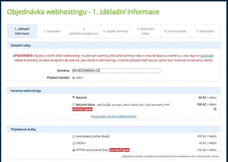 Wedos slevový kód webhosting
