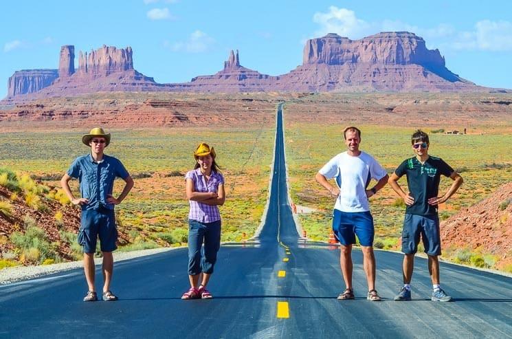 Při cestování na Work and Travel navštívíte nádherná místa jako například Monument Valley.